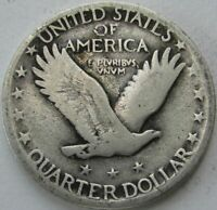 1926 STANDING LIBERTY SILVER QUARTER IN A SAFLIP - VG