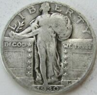 1930 STANDING LIBERTY SILVER QUARTER IN A SAFLIP - VG- GOOD