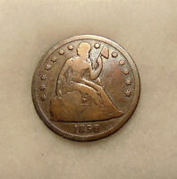 1850-O LIBERTY SEATED SILVER DOLLAR - BETTER DATE -  LOOKING OLD COIN