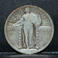 1917-D T2 STANDING LIBERTY QUARTER  VG  25C SILVER DENVER TYPE 2 TRUSTED