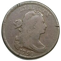 1797 S-136 R-3 DRAPED BUST LARGE CENT COIN 1C