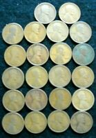 LOT OF 1909 TO 1919 LINCOLN WHEAT PENNIES 22 VARIOUS MINTS NO DUPLICATES