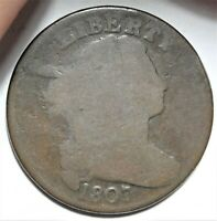 1807 S-271 DRAPED BUST LARGE CENT GOOD G EARLY COPPER 1C POPULAR COMET VARIETY