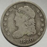 1830 CAPPED BUST HALF DIME CHOICE  GOOD VG EARLY H10C TYPE COIN