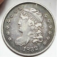 DOUBLE STRUCK REVERSE 1832 CAPPED BUST HALF DIME CHOICE  FINE H10C COIN