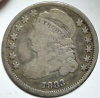 1833 CAPPED BUST DIME CHOICE FINE F EARLY SILVER 10C TYPE COIN