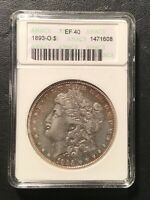 ANACS EXTRA FINE 40 1893 O MORGAN DOLLAR  BETTER DATE