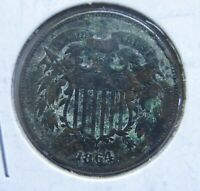 1864 U.S. TWO CENT-VG