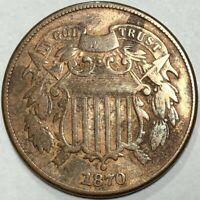1870 TWO CENT PIECE BETTER DATE IN FINE CONDITION