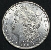 1880 MORGAN SILVER DOLLAR VAM 3 DOUBLED 80 AND DASH UNCIRCULATED COIN 715