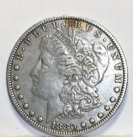 1880-O MORGAN SILVER DOLLAR V F COIN SHOWN 210 SHIPPING $ ON FIRST COIN ONLY