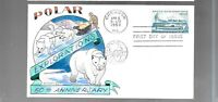 US FDC FIRST DAY COVERS  1128 ARCTIC EXPLORATION 1959  HAND