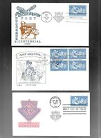 US FDC FIRST DAY COVERS  1123 FORT DUQUESNE 1958 LOT OF 9  M