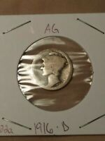 1916 D MERCURY DIME AG WOW