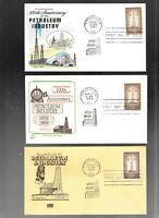 US FDC FIRST DAY COVERS  1134 PETROLEUM INDUSTRY 1949  LOT O