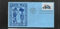 US FDC FIRST DAY COVERS  1180 GETTYSBURG CIVIL WAR BY FIDALG