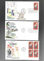 US FDC FIRST DAY COVERS  1271 FLORIDA 1965  NO ADDRESS LOT O