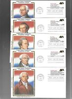 US FDC FIRST DAY COVERS CONSTITUTION 1987 SET OF 5 WITH BOOK