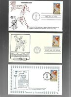 US FDC FIRST DAY COVERS  2560 BASKETBALL 1991  LOT OF 9