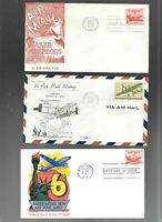 US FDC  FIRST DAY COVERS  COLLECTION  AIR MAIL 1940 'S  LOT
