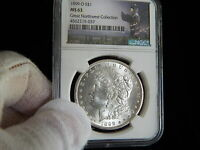MORGAN SILVER DOLLAR1899-O NGC MINT STATE 63 HENRY LEGACY GREAT NORTHWEST COLLECTION.