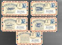 US FDC  FIRST DAY COVER  C48 AIR MAIL 1954   POSTCARDS SET O