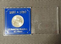 1989 CLAIM OF RIGHT UK 2 COIN TWO POUND IN ITS ORIGINAL BLUE