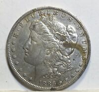 1886 O MORGAN SILVER DOLLAR V F COIN SHOWN 241 SHIPPING $ ON FIRST COIN ONLY