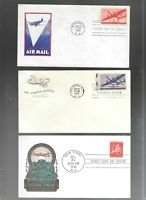 US FDC FIRST DAY COVERS COLLECTION LOT OF 10  AIR MAIL 1940