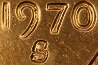 1970 S/S LINCOLN CENT  RPM 001  CONECA & WEXLER TOP 100 RPM  BU RED