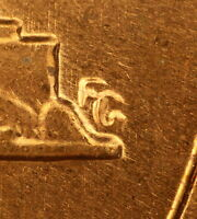 1963 LINCOLN CENT  DDR 002 HUGE DOUBLED DIE  BU RED
