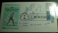 FIVE1994 OLYMPICS AUTOGRAPHED BY THE ATHLETE'S FIRST DAY COV