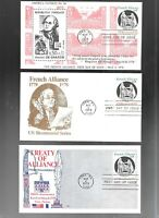 US FDC  FIRST DAY COVER   1753 FRENCH ALLIANCE 1978  LOT OF