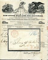 1843 ILLUSTRATED LETTERSHEET SHOEMAKERTOWN   PHILADA TO ALEX