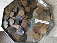 BULK LOT OLD PENNIES APX 190 ENGLISH BRITISH OLD PENNIES PEN