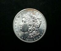 1882-S US MINT SILVER 90 MORGAN DOLLAR PROOF LIKE BRIGHT WHITE M1409