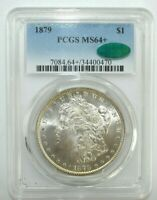 1879-P MORGAN SILVER DOLLAR - PCGS & CAC MINT STATE 64 M112