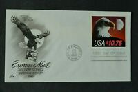 US 2122 EAGLE AND MOON $10.75 EXPRESS MAIL FDC ARTCRAFT CACH