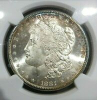 1881 S NGC MINT STATE 65 MORGAN DOLLAR TONED SAN FRANCISCO CLASSIC GREAT CONDITION