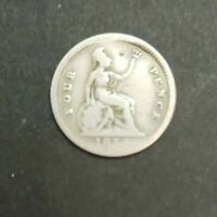 1854 ANTIQUE VICTORIAN SILVER GROAT