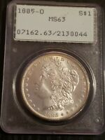1885 O UNITED STATES MORGAN 90 SILVER DOLLAR $1 PCGS MINT STATE 63
