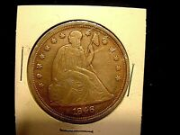 1846 U.S. SEATED LIBERTY ONE DOLLAR COIN EXTRA FINE