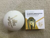 2015 AUSTRALIA & NEW ZEALAND 2X 1 OZ SILVER COINS ICC CRICKET WORLD CUP DOMED