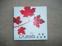 2013 O CANADA 5X $20 1 OZ SILVER PROOF COIN SET IN WOODEN BOX