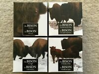 2014 CANADA THE BISON 4X 1OZ SILVER PROOF COIN SET FIGHT PORTRAIT BULL MATE REST