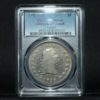 1795 $1 FLOWING HAIR SILVER DOLLAR  PCGS VF DETAIL  3 LEAVES  TRUSTED