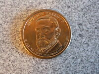 2012-D BENJAMIN HARRISON 23RD PRESIDENTIAL U.S. ONE DOLLAR COIN