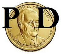 2 COINS 2014-P & D 32ND FRANKLIN ROOSEVELT PRESIDENTIAL U.S. ONE DOLLAR COIN