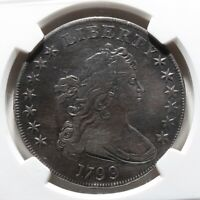 1799 DRAPED BUST SILVER DOLLAR COIN GRADED BY NGC