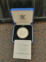 ROYAL MINT1998 5 SILVER PROOF COIN PRINCE  OF WALES 50TH BIR